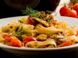 Pasta With Sardines And Cherry Tomatoes